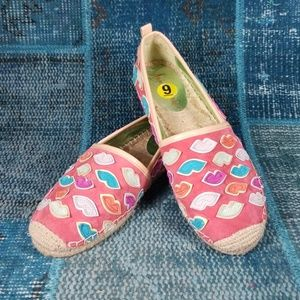 "Sam Edelman ""Lulu"" Espadrilles with Kisses Size 9"